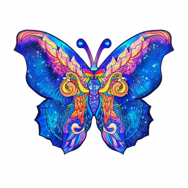 dřevěné puzzle motýl